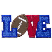 Football Love Patch - Sew Lucky Embroidery