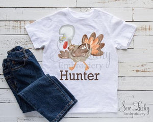 Football Turkey Boys Personalized Shirt - Sew Lucky Embroidery