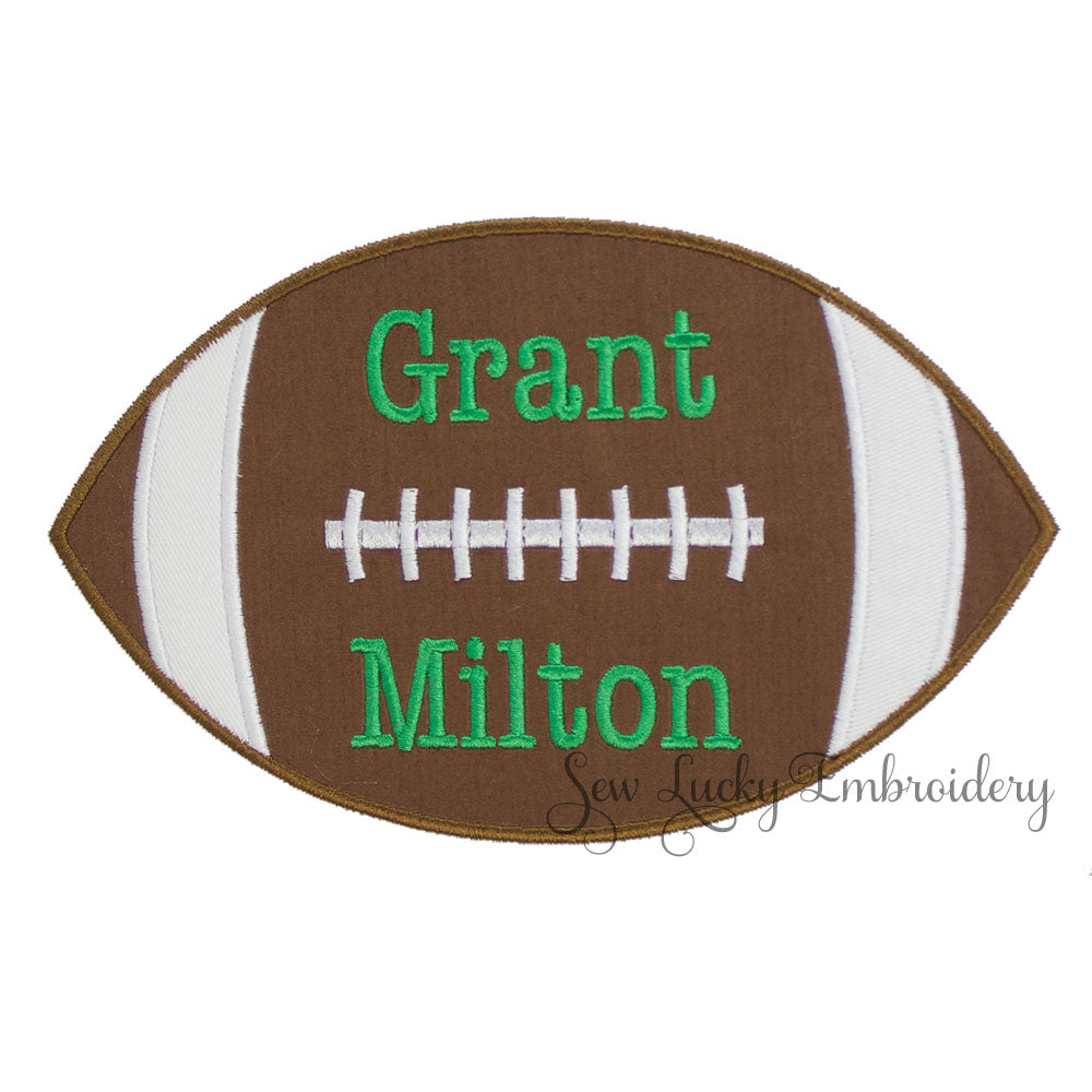 Football Personalized Patch