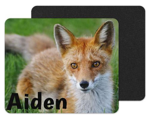 Fox in Grass Custom Personalized Mouse Pad - Sew Lucky Embroidery