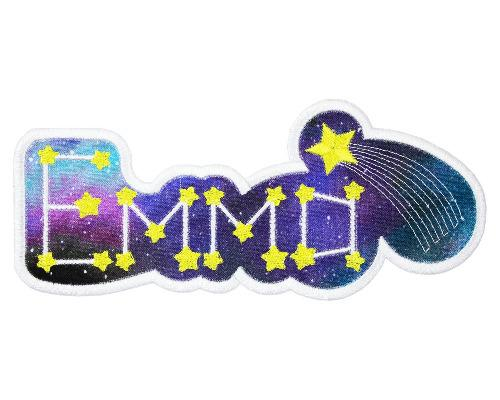 Galaxy Name Patch - Sew Lucky Embroidery