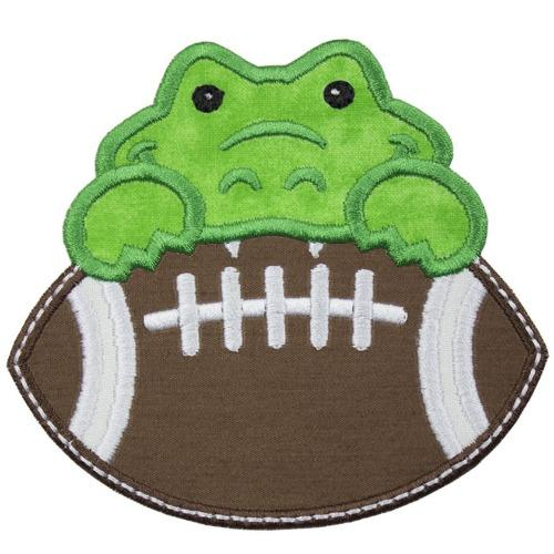 Gator Football Boy Patch - Sew Lucky Embroidery