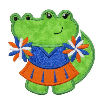 Gator Football Cheerleader Patch