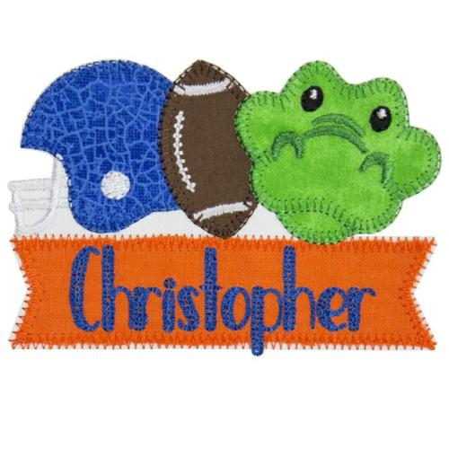 Gator Football Name Patch - Sew Lucky Embroidery