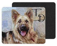 German Shepard Dog Custom Personalized Mouse Pad - Sew Lucky Embroidery