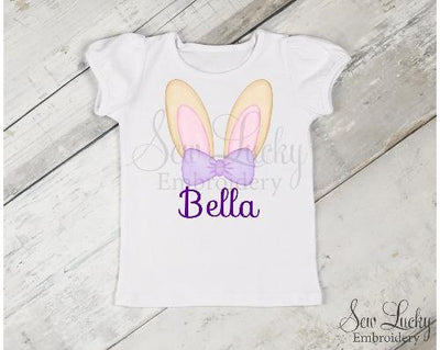 Girl Bunny Ears Personalized Easter Shirt
