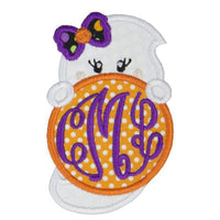 Girl Ghost Monogrammed Patch - Sew Lucky Embroidery