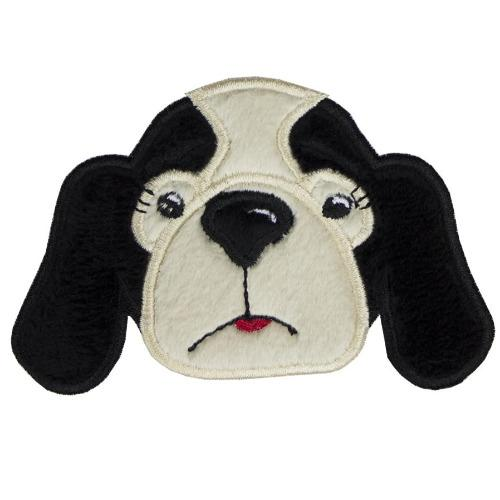 Girl Hound Dog Football Face Patch - Sew Lucky Embroidery