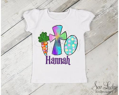 Girls Easter Trio Personalized Shirt