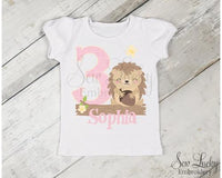 Girls Hedgehog Personalized Birthday Shirt - Sew Lucky Embroidery