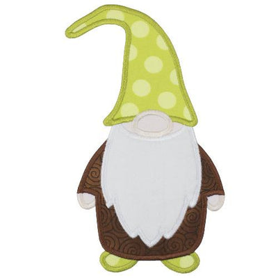 Gnome with Green Hat Patch