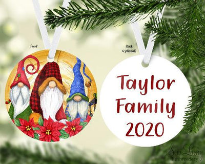 Gnomes Custom Christmas Ornament Personalized