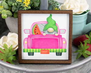 Gnome Watermelon Truck Sign