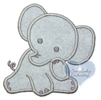 Gray Elephant Patch