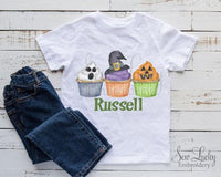 Halloween Cupcakes Personalized Shirt - Sew Lucky Embroidery