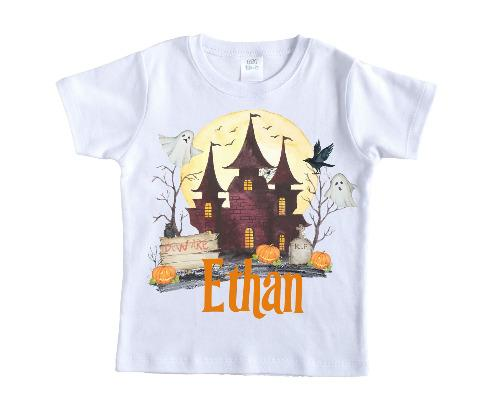 Halloween House Personalized Shirt - Sew Lucky Embroidery