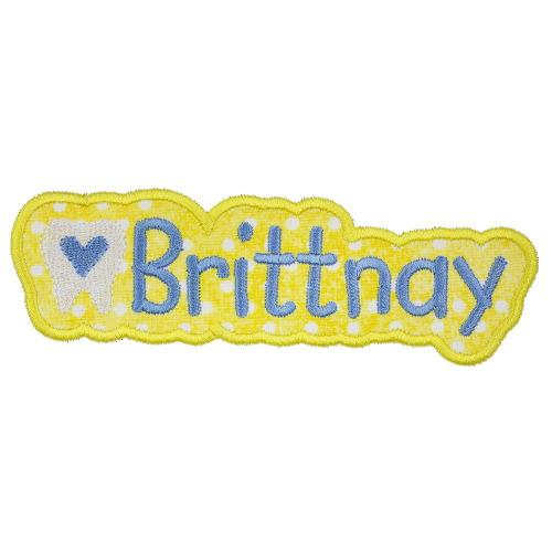 Happy Tooth Name Patch - Sew Lucky Embroidery