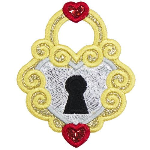Heart Locket Patch - Sew Lucky Embroidery