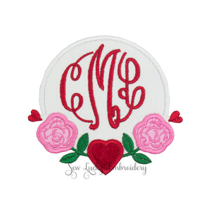 rose monogrammed patch