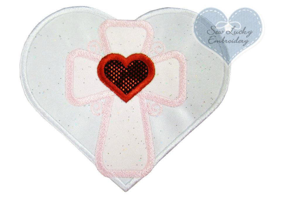 Heart with Cross Patch