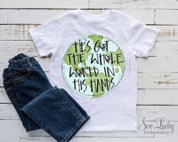 He's Got the Whole World in His Hands Shirt - Sew Lucky Embroidery
