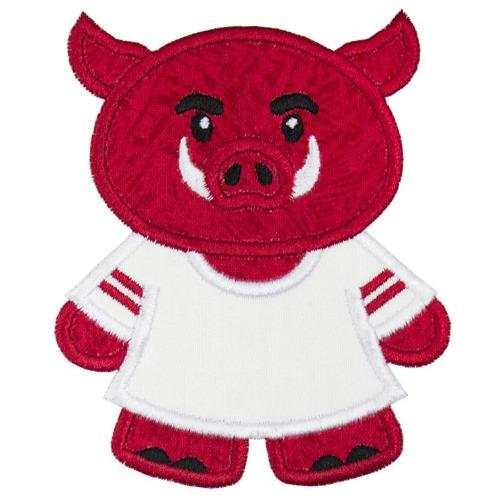 Hog Football Boy Patch - Sew Lucky Embroidery