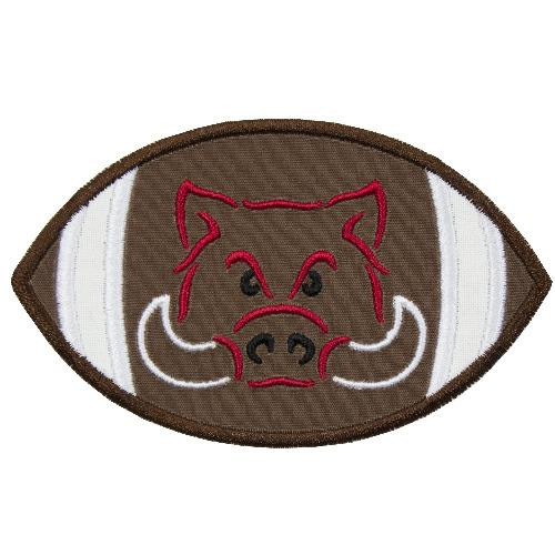 Hog Football Patch - Sew Lucky Embroidery