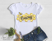 Honey Bee Girls Personalized Shirt - Sew Lucky Embroidery