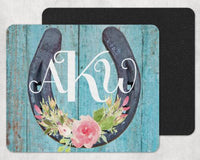 Horseshoe Custom Monogram Personalized Mouse Pad - Sew Lucky Embroidery