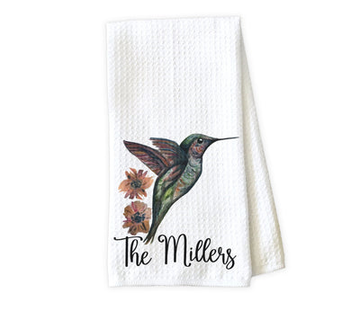 Humming Bird Personalized Waffle Weave Microfiber Kitchen Towel