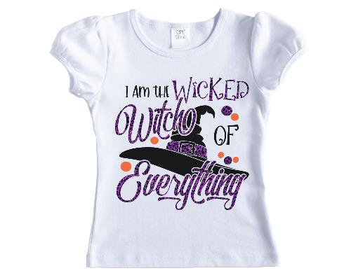 I am the Wicked Witch of Everything Girls Halloween Shirt - Sew Lucky Embroidery
