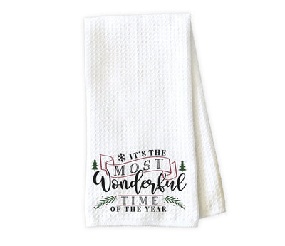 It's the Most Wonderful Time of the Year Waffle Weave Microfiber Kitchen Towel