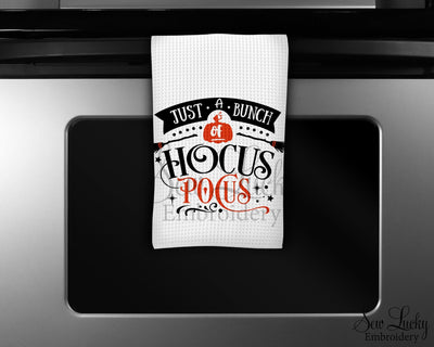 Just a Bunch of Hocus Pocus Waffle Weave Microfiber Kitchen Towel