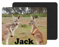 Kangaroos Custom Personalized Mouse Pad - Sew Lucky Embroidery
