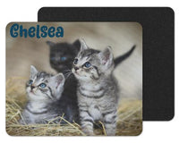 Kitten Trio Custom Personalized Mouse Pad - Sew Lucky Embroidery