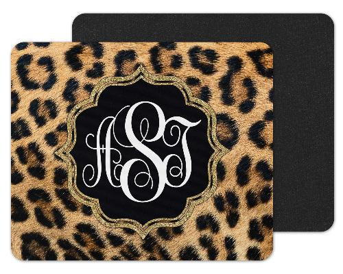 Leopard Custom Monogram Mouse Pad - Sew Lucky Embroidery