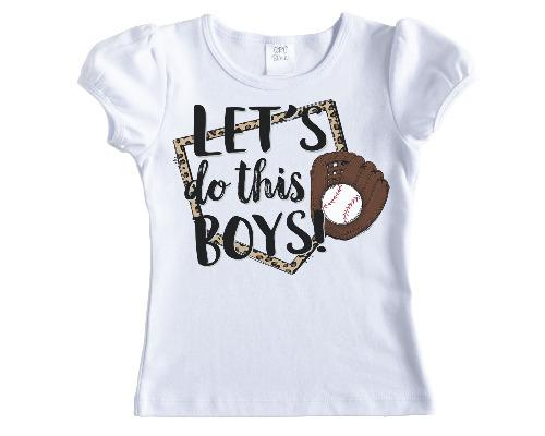 Lets do this Boys Baseball Shirt - Sew Lucky Embroidery