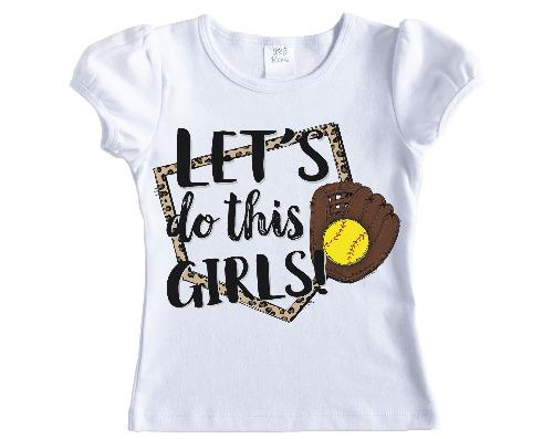 Lets do this Girls Softball Shirt - Sew Lucky Embroidery