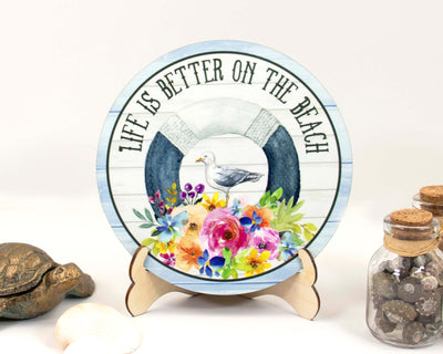 Life is Better on the Beach Tier Tray Sign and Stand