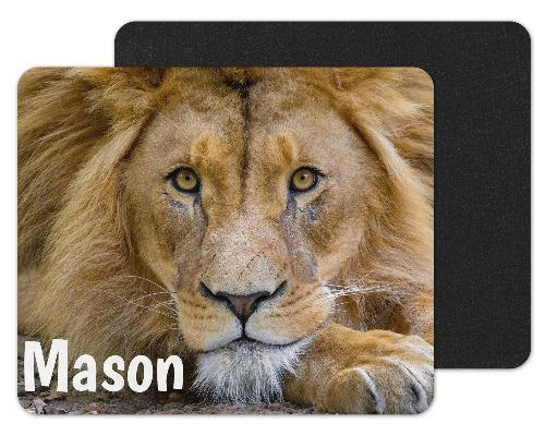 Lion Face Close-up Personalized Mouse Pad - Sew Lucky Embroidery