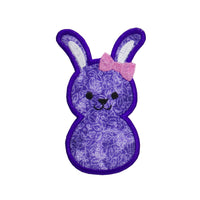 Little Girl Easter Bunny Patch - Sew Lucky Embroidery