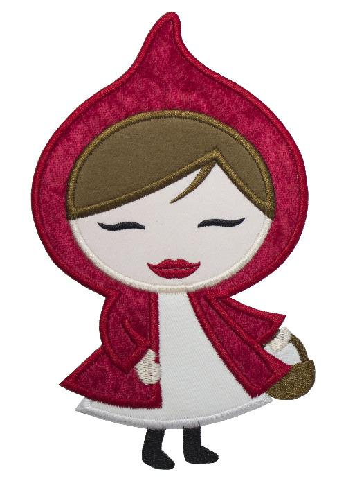 Little Red Riding Hood Patch - Sew Lucky Embroidery