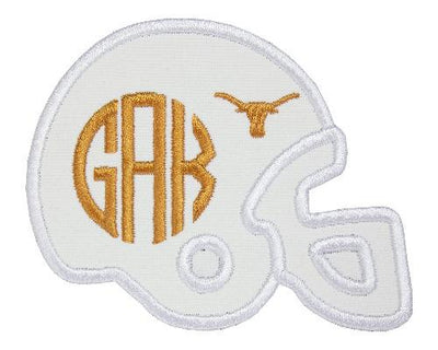 Longhorn Football Helmet Monogram Personalized Patch