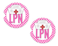 LPN Sandstone Car Coasters - Sew Lucky Embroidery