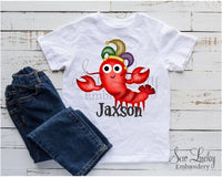 Mardi Gras Crawfish Personalized Shirt - Sew Lucky Embroidery