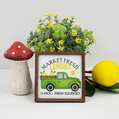 Market Fresh Lemons Tier Tray Sign