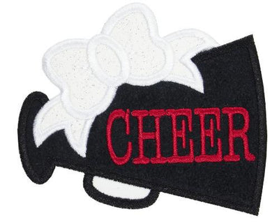 Black Megaphone Monogram Patch