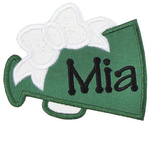 Megaphone Monogram Patch - Sew Lucky Embroidery