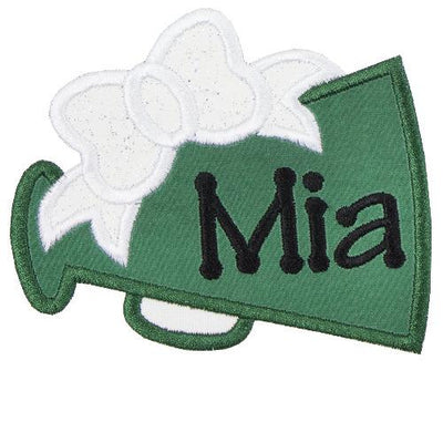 Green Megaphone Monogram Patch