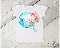 Mermaid Bubble Personalized Shirt - Sew Lucky Embroidery